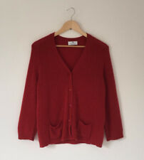 Peter Hahn Cardigan Size 18 Long Sleeve 100% Cashmere Rust Red