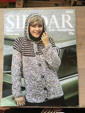 Vintage Knitting Pattern, 1970's, Button Through Woman's Hoodie, Chunky, 32-40""