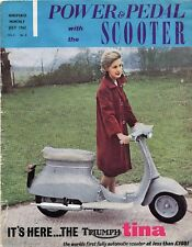 Power and Pedal Scooter Magazine - July 1962 Lambretta Vespa Triumph Tina