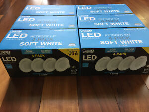 Lot of 6 4PK (24 Lights) FEIT Electric LED Retrofit 4""