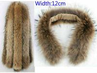 Piel de mapache de mapache piel Cuello real de piel cuello natural pelaje 70*12