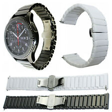Ceramic Strap Watch Band For Samsung Galaxy 46mm Gear S3 Wristband Link Bracelet