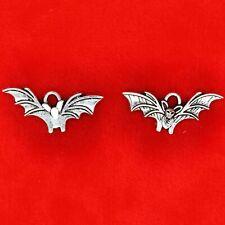 15 x Tibetan Silver Bat Halloween Charms Pendants Crafts Beads