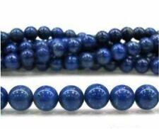 8mm Blue Egyptian Lazuli Lapis Gemstone Loose Beads