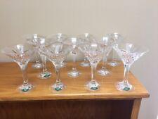 Shannon Crystal 24% Lead Cut Glass Pineapple Design Martini Glasses