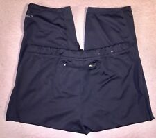 Champion Women's M Black Athletic Work Out Yoga Crop Pants Capri Compression