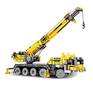 665pcs Mobile Crane Creator Ideas Blocks Set building bricks Kids Toys Child Toy