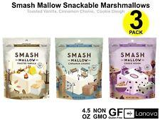 Smash Mallow Marshmallows Cinnamon Churro Toasted Vanilla Cookie Dough Pack of 3