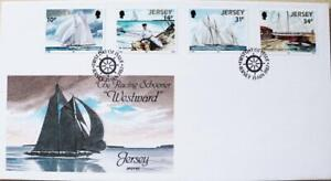 """Jersey Stamps """"The Racing Schooner - Westward"""" First Day Cover 1987"""