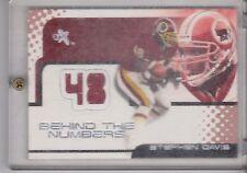 2001 Fleer Ex Stephen Davis Behind the numbers jersey card 346/752 Redskins