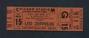 Original 1980 Led Zeppelin unused concert ticket Chicago Through The Out Door