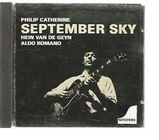 """CD PHILIP CATHERINE HEIN VAN DE GEYN ALDO ROMANO """"SEPTEMBER SKY"""" - 1988"""