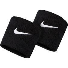Nike Swoosh Double Wristbands Black Sweatband Basketball Tennis AC2286-010