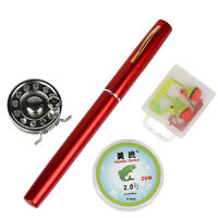 Mini Ice Fishing Rod and Reel Combo 1.4M Telescopic Pen Rod Line Lure Kid Gift