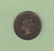 1886 Canadian Large One Cent Coin - VF
