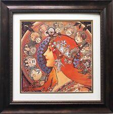 "Alphonse Mucha ""Zodiac"" 1896(detail) FRAMED ART  Horoscope Signs Astrology David"