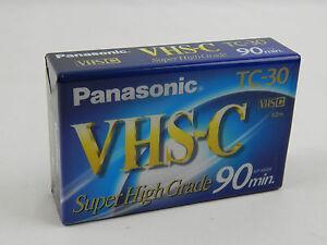 1 Single Panasonic TC-30 VHS-C Super High Grade 90 Min. Tape Ships Quick