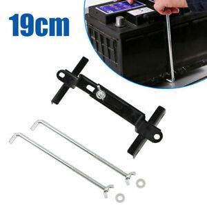 19cm Universal Metal Car Battery Tray Adjustable Hold Down Clamp Bracket Kit UK