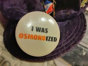 donny osmond osmonds osmond brothers i was osmondized vintage collectable pin