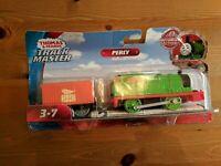 Fisher-Price Thomas Friends Percy The Train Trackmaster Motorized Engine Railway