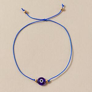 Nazar Boncuk Armband Fußkette Blau böses Auge Glücksbringer Türkisch Arabisch