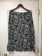 Black and White Skirt ~ Long ~ A-Line ~ Paisley Pattern ~ Size 8?