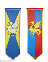 Medieval Standard Knights Dragon Camelot Party Decoration Long Large Flag Banner