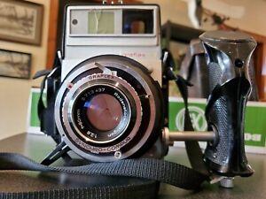 Vintage Graflex XL Rangefinder 6x7cm Camera W/Rodenstock 2.8/80mm Lens & Back