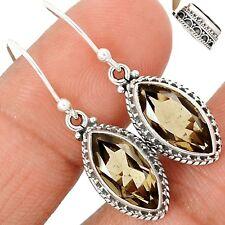 Artisan - Smokey Topaz 925 Sterling Silver Earrings Jewelry SE111467