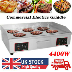 73cm Large Electric Countertop Griddle Commercial Kitchen Hot Plate BBQ Grill UK
