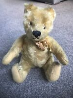 "ANTIQUE VINTAGE MOHAIR 9"" STEIFF TEDDY BEAR ADORABLE PUDGY PUSH TUMMY CUTE No ID"