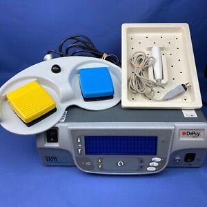 Depuy Mitek VAPR VUE Arthroscopy Radiofrequency System foot switch & handpiece