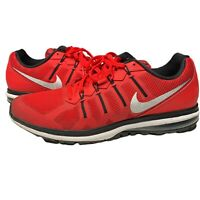 Nike Mens Air Max Dynasty 816747-600 Red Black Running Shoes Lace Up Size 12