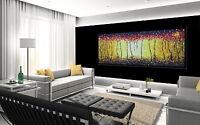 """51"""" art painting bush fire print landscape canvas  Australia aboriginal"""