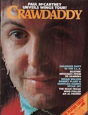 Crawdaddy Magazine April 1976  Paul McCartney, Brian Wilson  EX 112015DBE