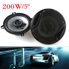"""2pcs 4ohm 5"""" 400W Car Door Sub Woofer Coaxial Audio Music Stereo Speakers Horn"""