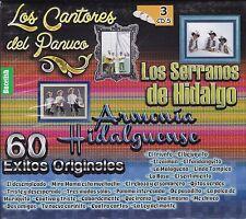 Los Serranos de Hidalgo y Armonia Hidalguense 60 Exitos Box set 3CD New Sealed