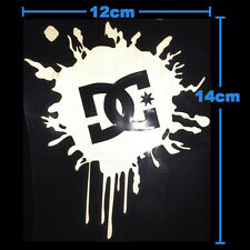 DC Ken Block SPLAT Car Sticker Decal Hoonigan Snowboard White Silver Reflective
