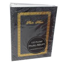 "Traditional Photo Album - Easy Slip in Pockets - Black 100 6""x4"" Photo's"
