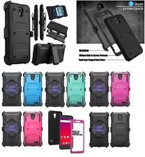 ZTE Belt Clip Holster Combo With Built in Screen Protector Cell Phone Case Cover