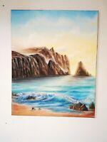 Tableau, peinture a l`huile sur toile, paysage marin format 40/50 cm année 2021