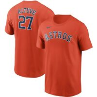 Brand New 2021 MLB Nike Houston Astros Jose Altuve #27 Name & Number T-Shirt