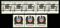 USA #2124 Non Profit #2604 Eagle Coil Stamps Postage Strip Collection Mint NH
