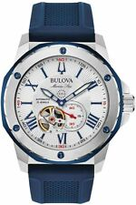 Bulova Marine Star Collection 200m Stainless Steel Mens Watch 98A225