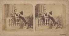 G.M. CEPPI Autoportrait Photographe Italien Italie Photo Stereo Albumine ca 1865