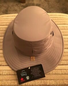 MENS GENUINE TILLEY TTCH1 TEC-COOL HAT GREY MADE IN CANADA Size 7 1/4