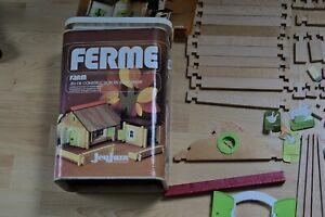 """Jeu de construction ancien en bois """"Maison forestière"""" Ferme réf 8093 Jeujura"""