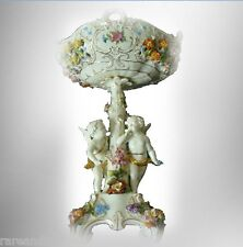 Dresden Saxony porcelain centerpiece - putti playing FREE SHIPPING