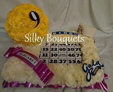 ARTIFICIAL SILK FUNERAL FLOWER BINGO BOARD BALL TRIBUTE MEMORIAL