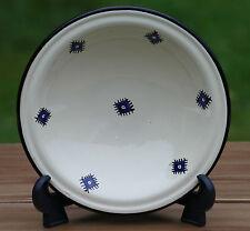 4er-Set Teller beige blau - Keramik handmade in Tunesien - blau Unikat 23 x 6 cm